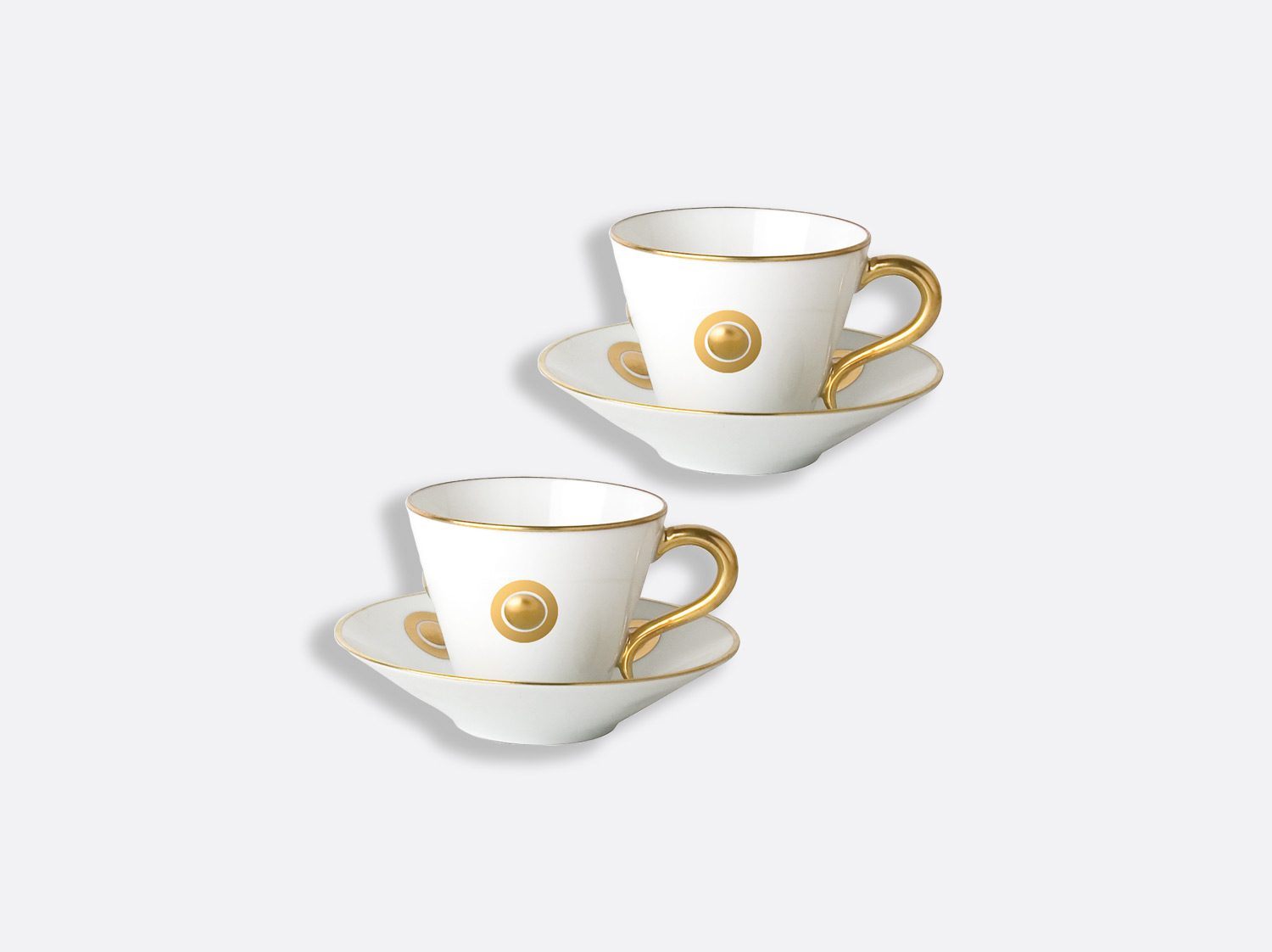 China Espresso cup and saucer 4.4 oz - Set of 2 of the collection Ithaque or | Bernardaud