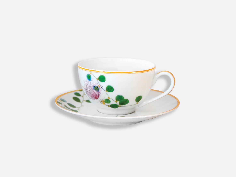 Tasse et soucoupe thé 13 cl - A l'unité en porcelaine de la collection Jardin indien Bernardaud