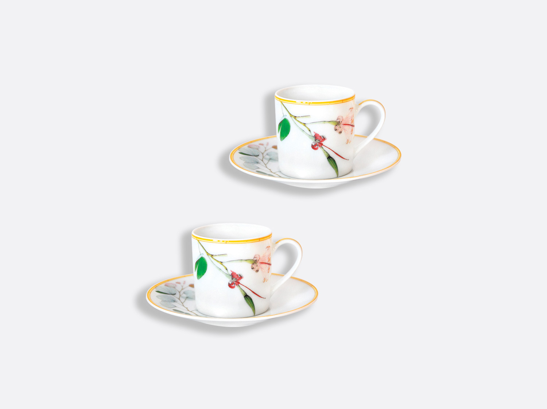 Tasse et soucoupe café 8 cl - Coffret de 2 en porcelaine de la collection Jardin indien Bernardaud