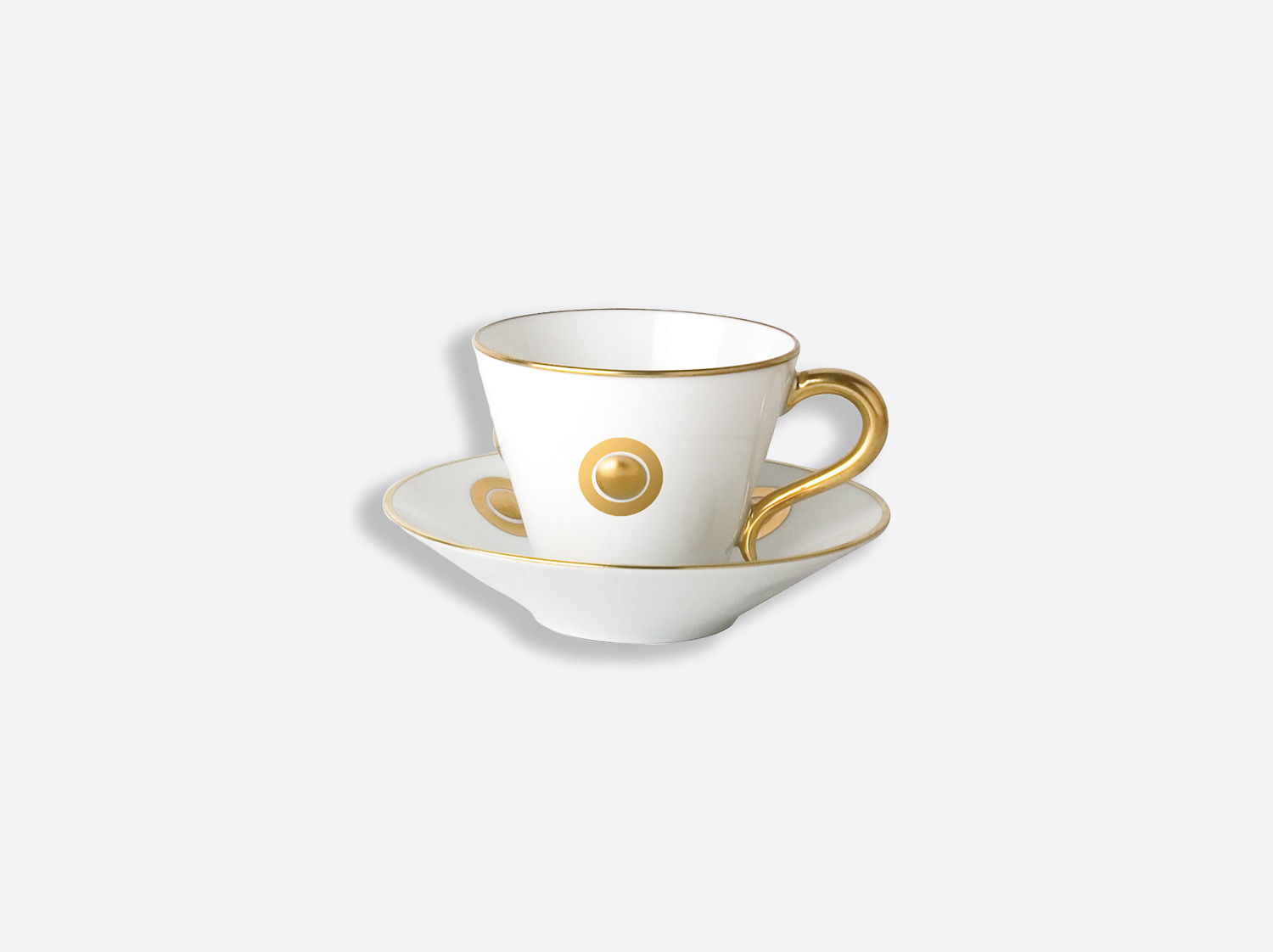 China Espresso cup and saucer 13 cl of the collection Ithaque or | Bernardaud
