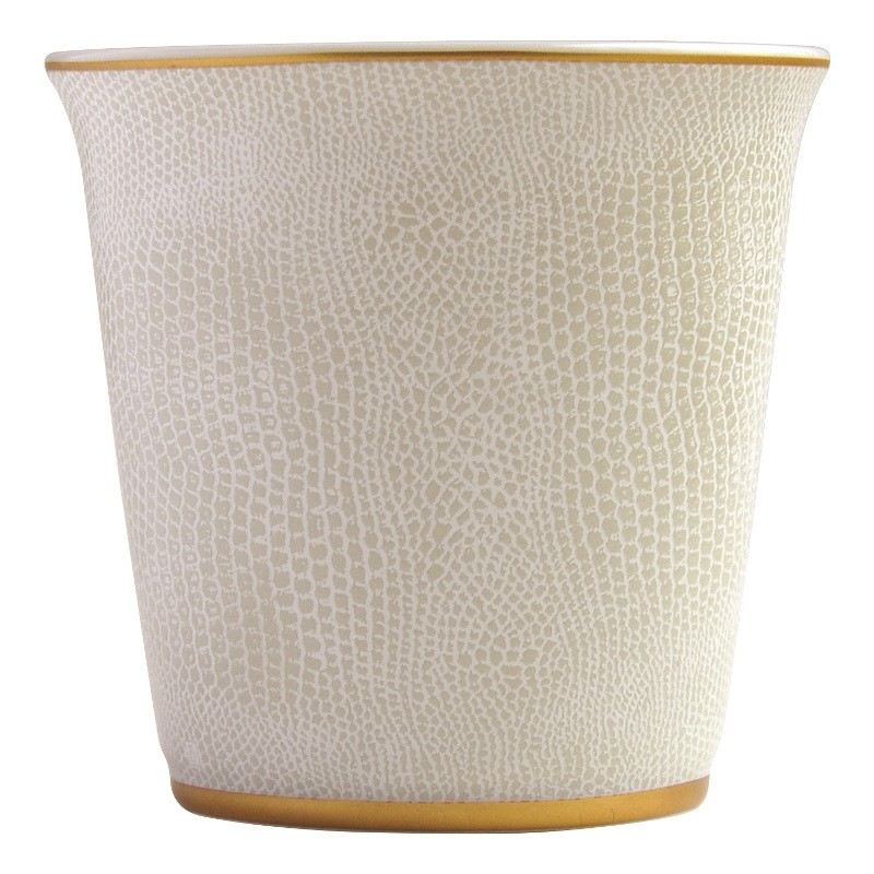 Pot 9 cm + bougieParfumée 200g en porcelaine de la collection Sauvage or Bernardaud