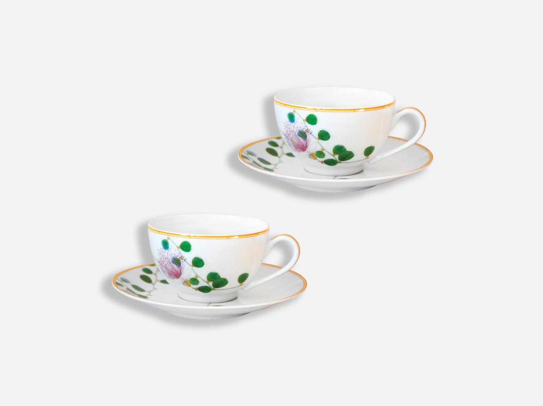 Tasse et soucoupe thé 13 cl - Coffret de 2 en porcelaine de la collection Jardin indien Bernardaud