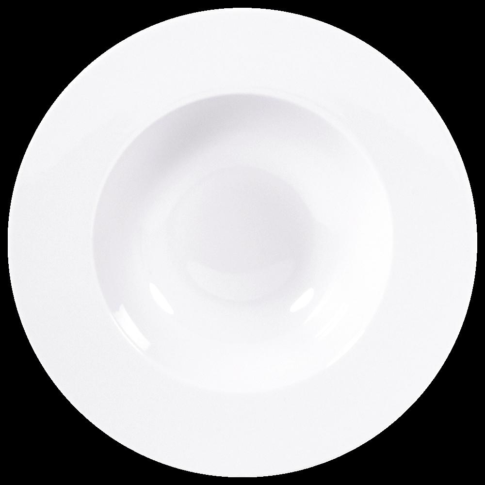Assiette creuse à aile 22 cm en porcelaine de la collection ASTRE BLANC Bernardaud