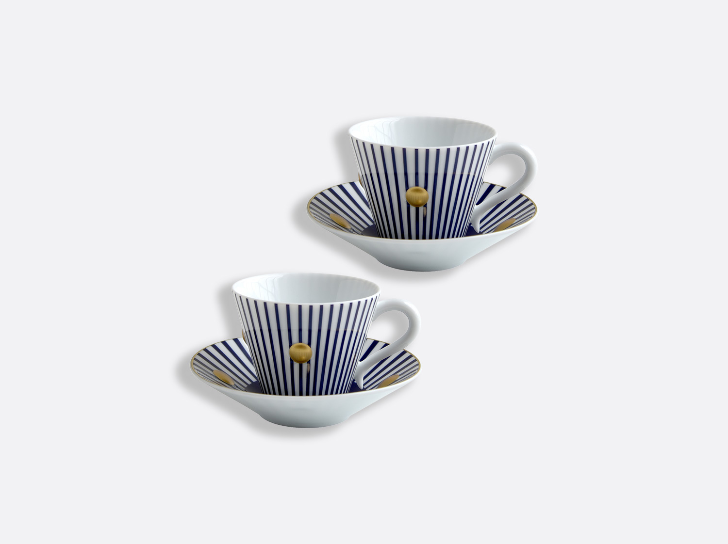 China Set of Night blue cups and saucers 13 cl - Set of 2 of the collection Delphos - Olivier Gagnère | Bernardaud