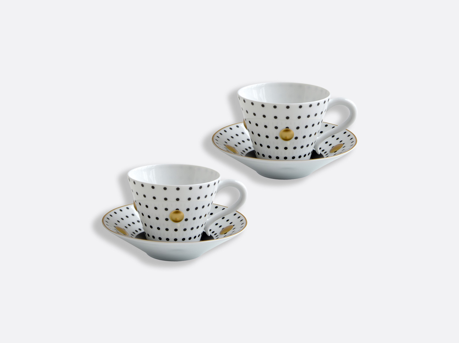 China Set of Coal cups and saucers 13 cl - Coffret de 2 of the collection Knossos - Olivier Gagnère | Bernardaud