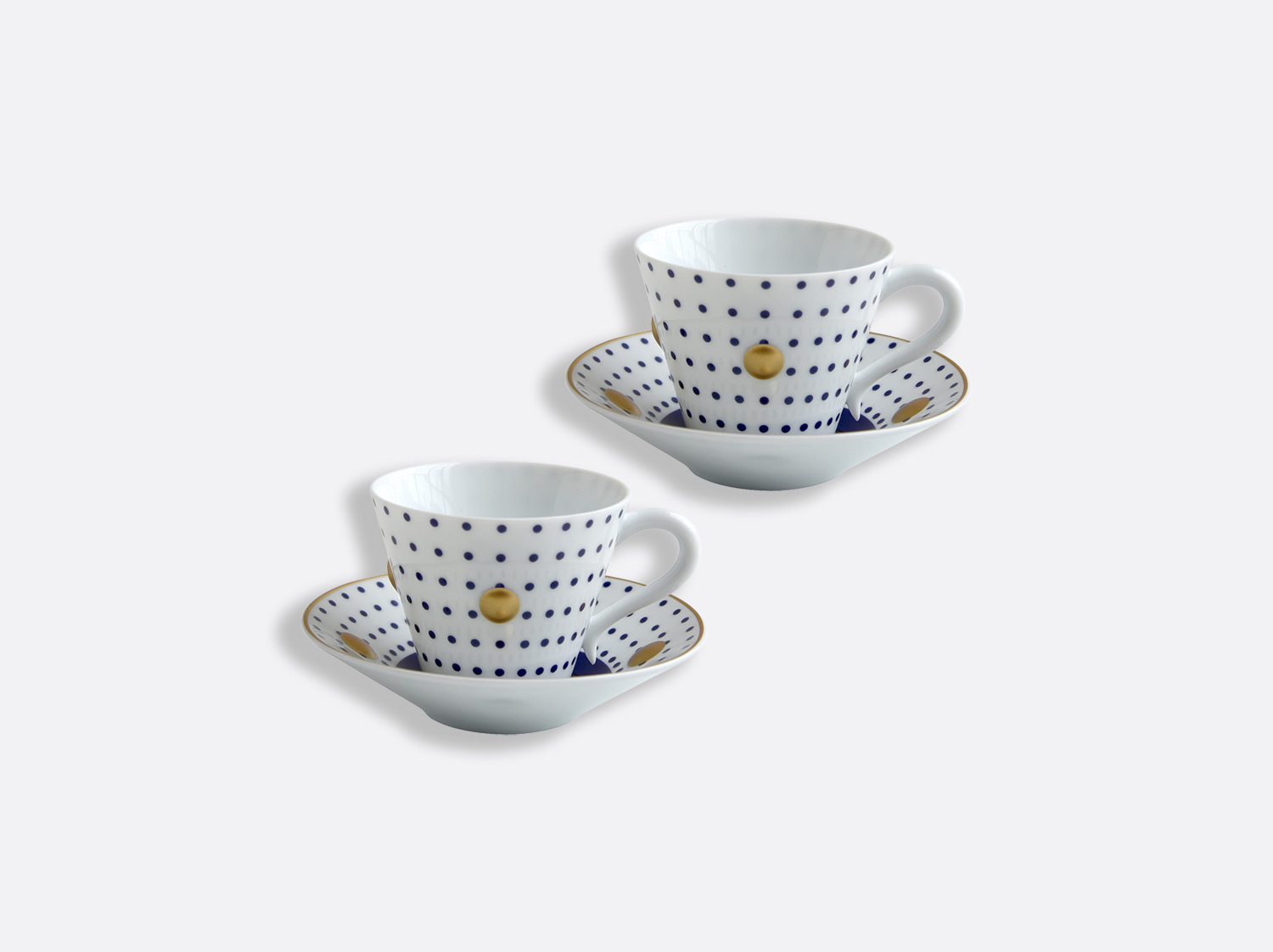 China Set of Night blue cups and saucers 13 cl - Coffret de 2 of the collection Knossos - Olivier Gagnère | Bernardaud