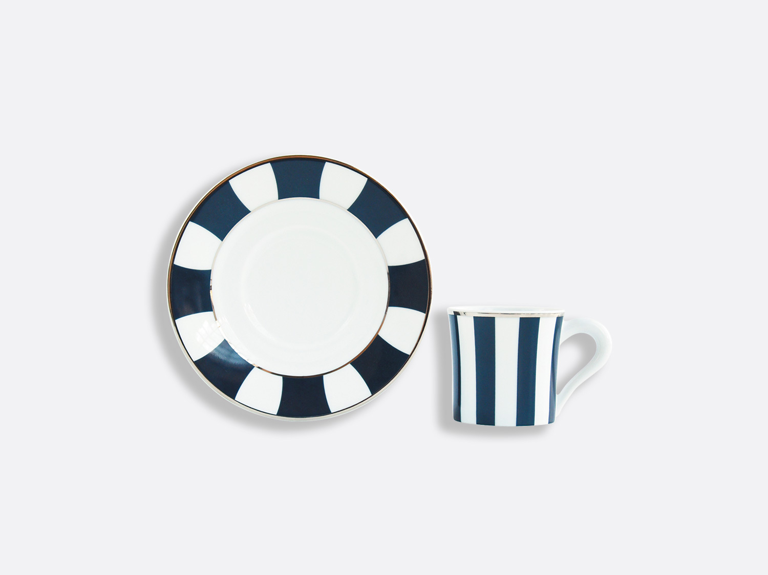 China Espresso cup and saucer gift box - 2.8 Oz - per unit of the collection Galerie Royale Bleu Nuit | Bernardaud