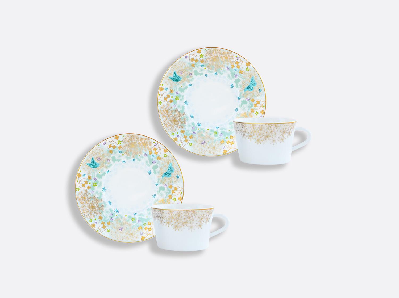 Coffret de tasses & soucoupes thé 20 cl - Coffret de 2 en porcelaine de la collection FÉERIE - MICHAËL CAILLOUX Bernardaud