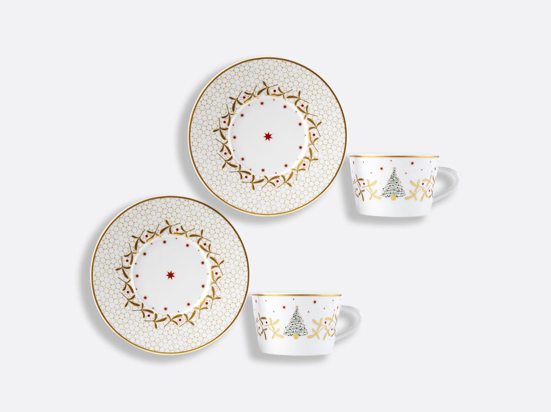 China Tea cup and saucer gift box - 13 cl - Set of 2 of the collection Noël | Bernardaud