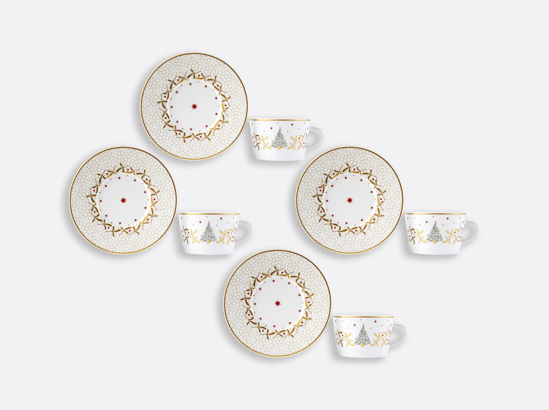China Tea cup and saucer gift box - 13 cl - Set of 4 of the collection Noël | Bernardaud