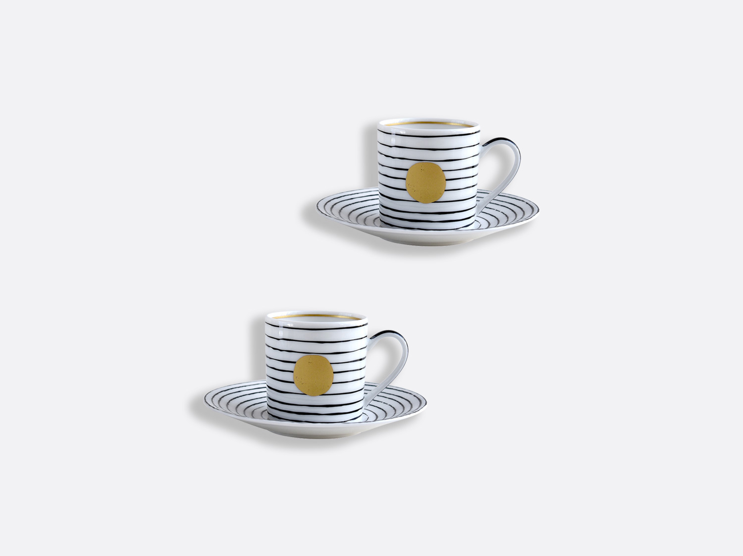 China Espresso cup and saucer gift box - 2.8 Oz - Set of 2 of the collection Aboro Or | Bernardaud