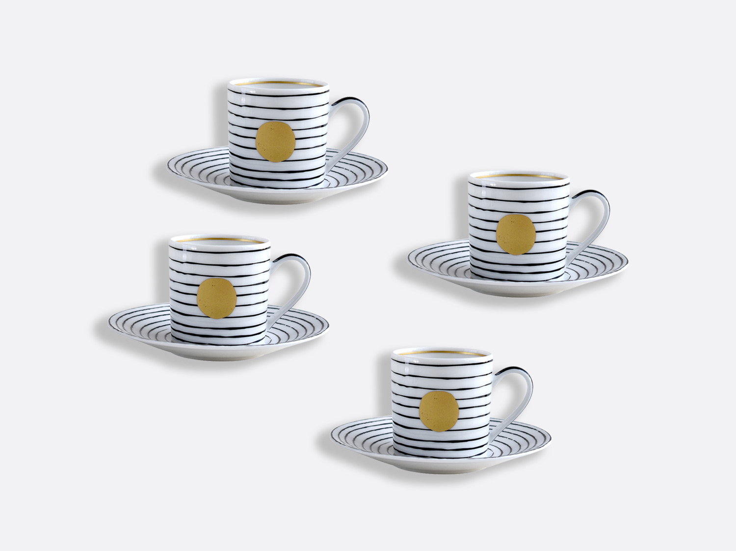 China Espresso cup and saucer gift box - 2.8 Oz - Set of 4 of the collection Aboro Or | Bernardaud