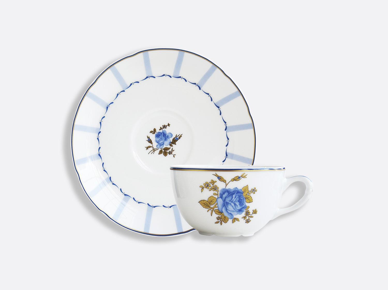 Coffret de tasses & soucoupes thé 13 cl - A l'unité en porcelaine de la collection BROCANTE Bernardaud