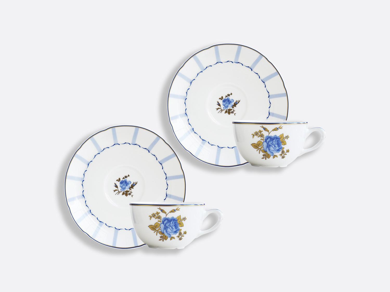 Coffret de tasses & soucoupes thé 13 cl - Coffret de 2 en porcelaine de la collection BROCANTE Bernardaud