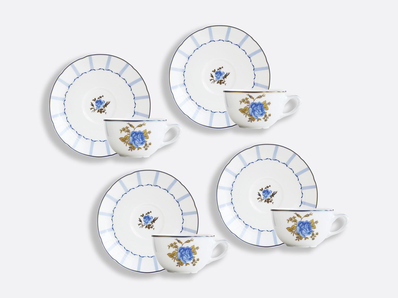 Coffret de tasses & soucoupes thé 13 cl - Coffret de 4 en porcelaine de la collection BROCANTE Bernardaud