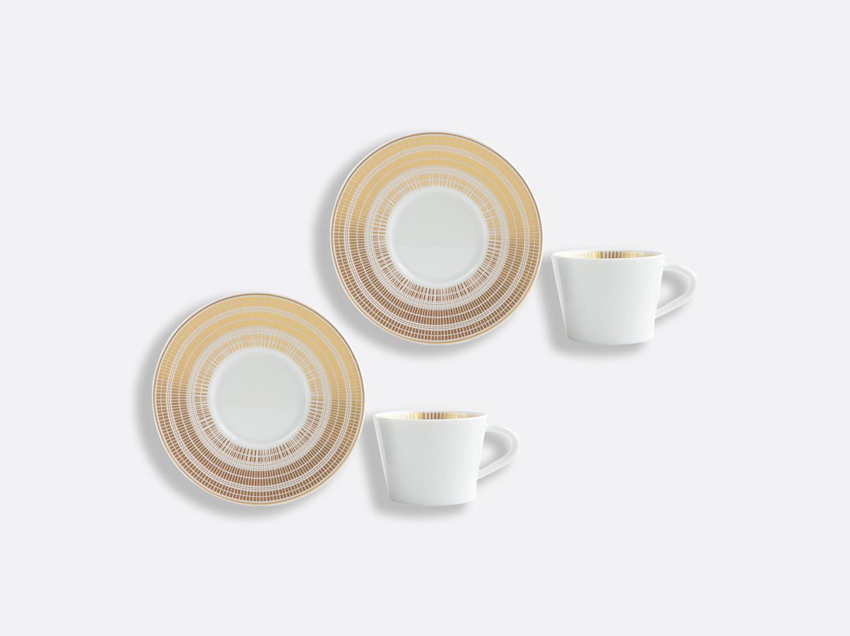 Coffret de tasses & soucoupes café 6 cl - Coffret de 2 en porcelaine de la collection CANISSE Bernardaud
