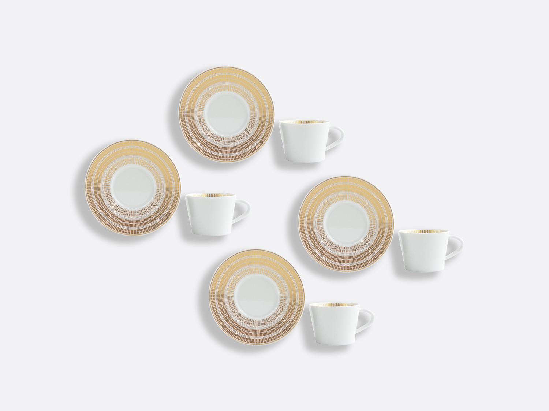 Coffret de tasses & soucoupes café 6 cl - Coffret de 4 en porcelaine de la collection CANISSE Bernardaud