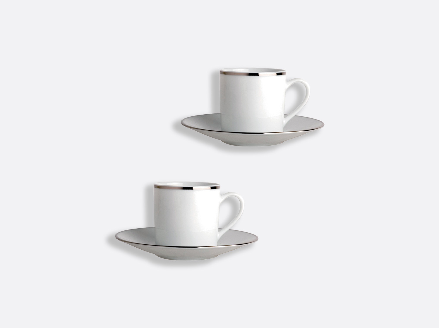 China Coffee cup and saucer gift box - 8 cl - Set of 2 of the collection Cristal   Bernardaud