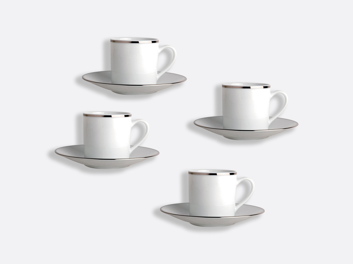China Coffee cup and saucer gift box - 8 cl - Set of 4 of the collection Cristal   Bernardaud