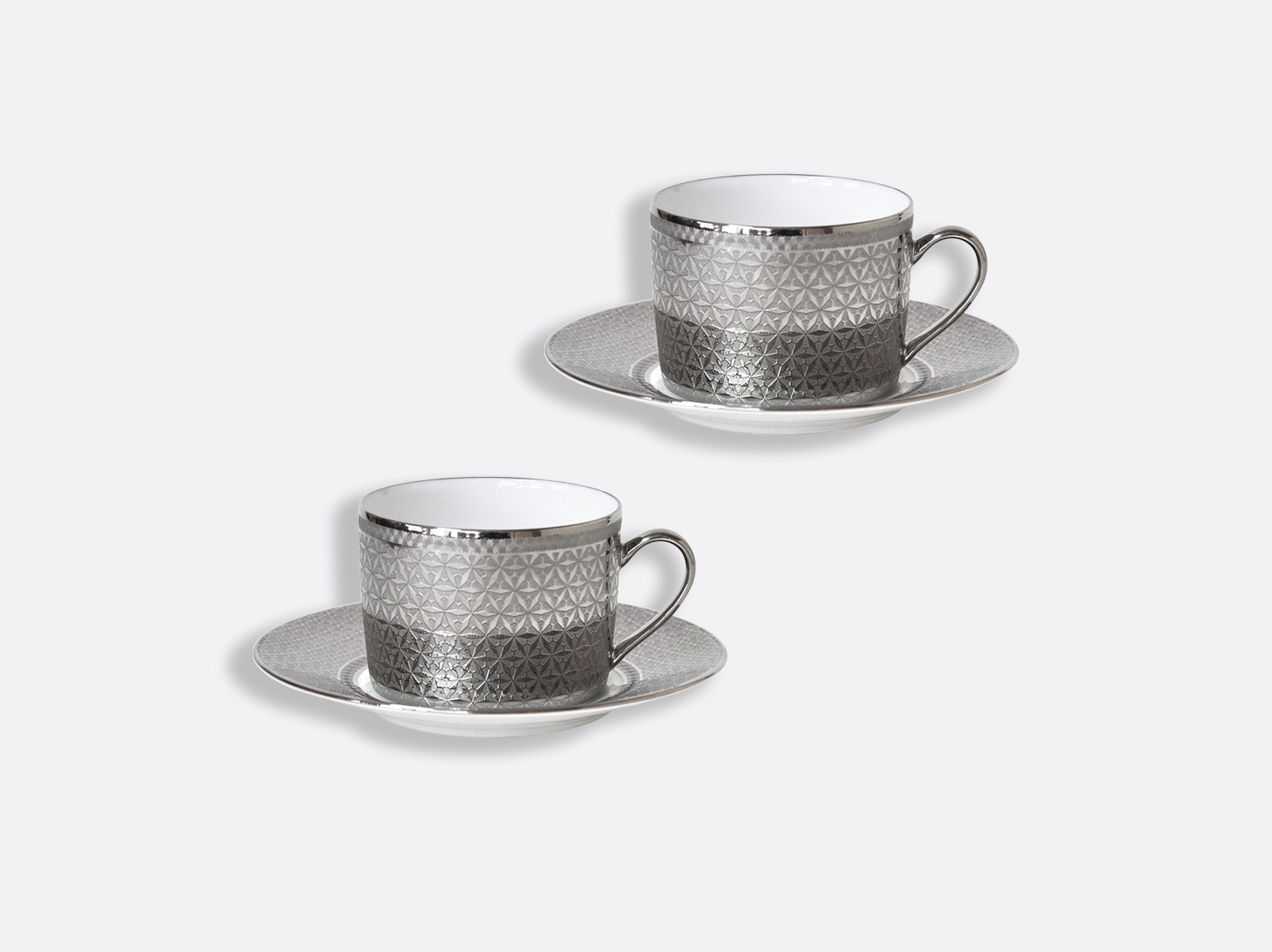 China Tea cup and saucer gift box - 15 cl - Set of 2 of the collection Divine | Bernardaud