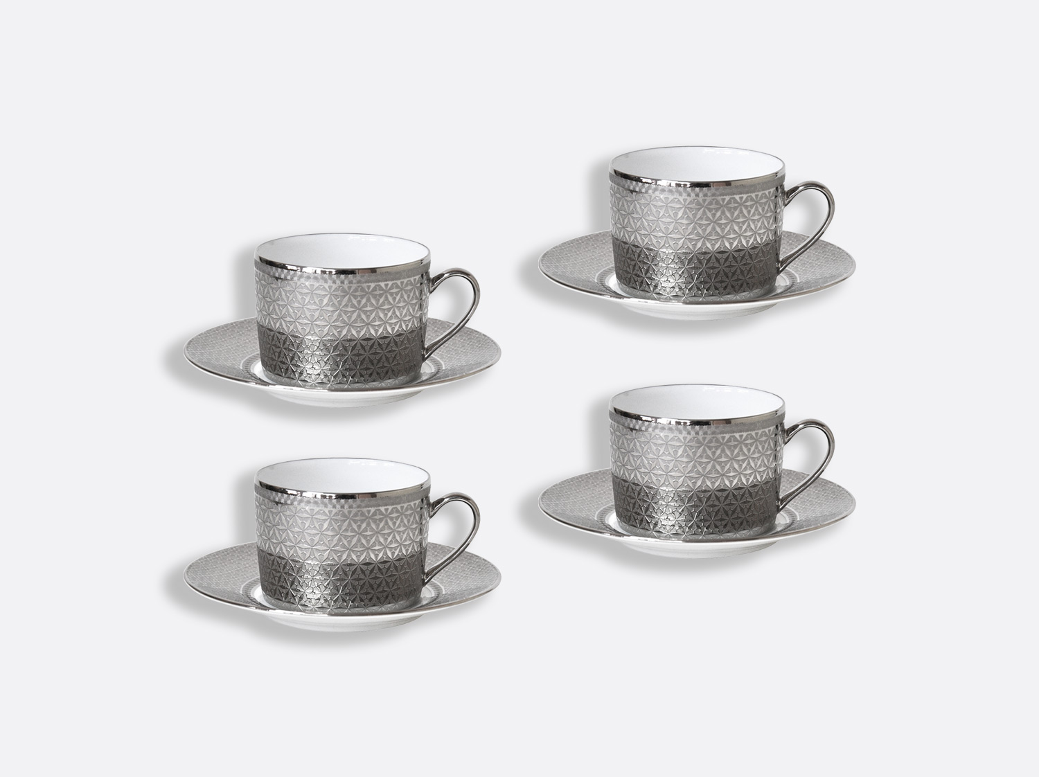 China Tea cup and saucer gift box - 15 cl - Set of 4 of the collection Divine | Bernardaud