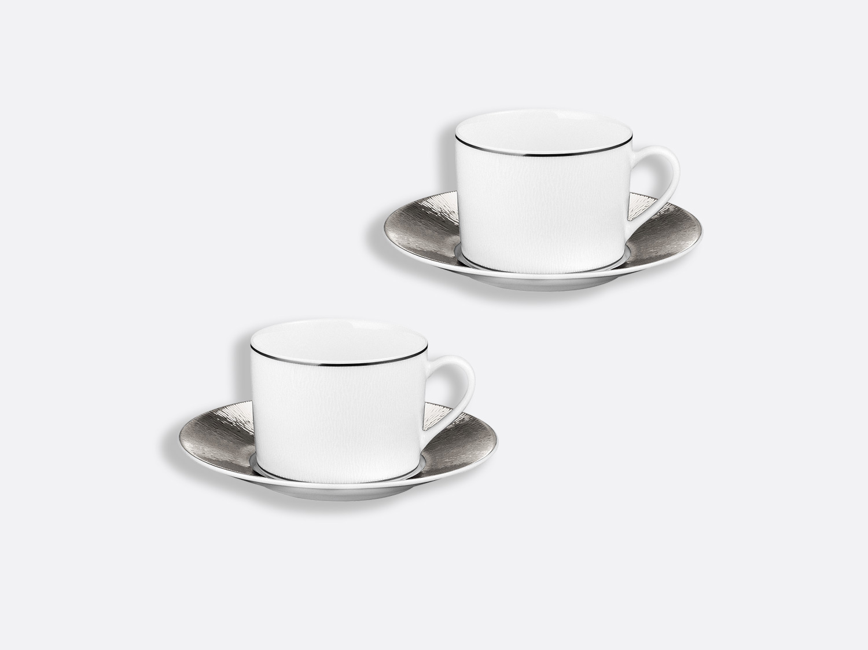 China Tea cup and saucer gift box - 5 Oz - Set of 2 of the collection Dune   Bernardaud