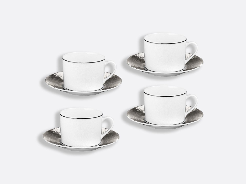 China Tea cup and saucer gift box - 5 Oz - Set of 4 of the collection Dune   Bernardaud