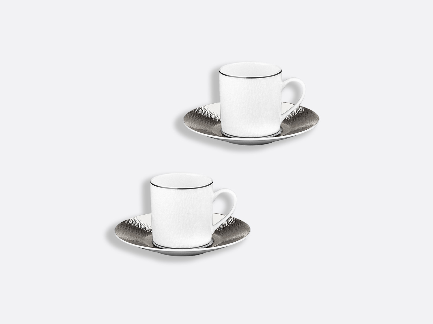 China Espresso cup and saucer gift box - 2.8 Oz - Set of 2 of the collection Dune | Bernardaud