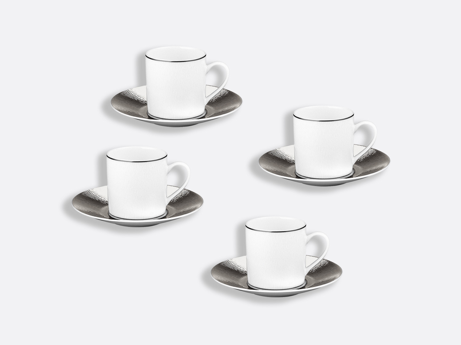 China Espresso cup and saucer gift box - 2.8 Oz - Set of 4 of the collection Dune | Bernardaud
