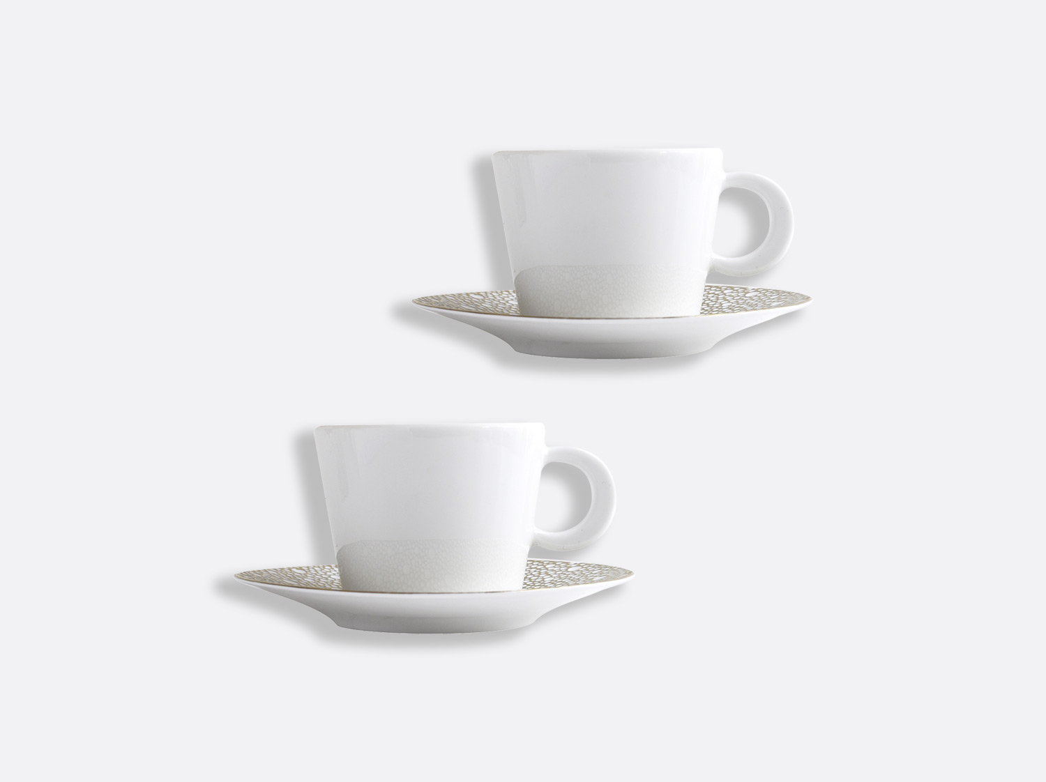 Coffret de tasses & soucoupes thé 17 cl - Coffret de 2 en porcelaine de la collection Ecume Mordoré Bernardaud