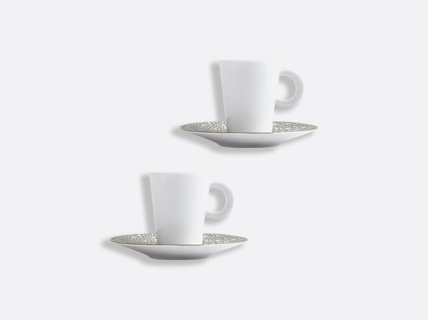 Coffret de tasses & soucoupes café 6 cl - Coffret de 2 en porcelaine de la collection Ecume Mordoré Bernardaud