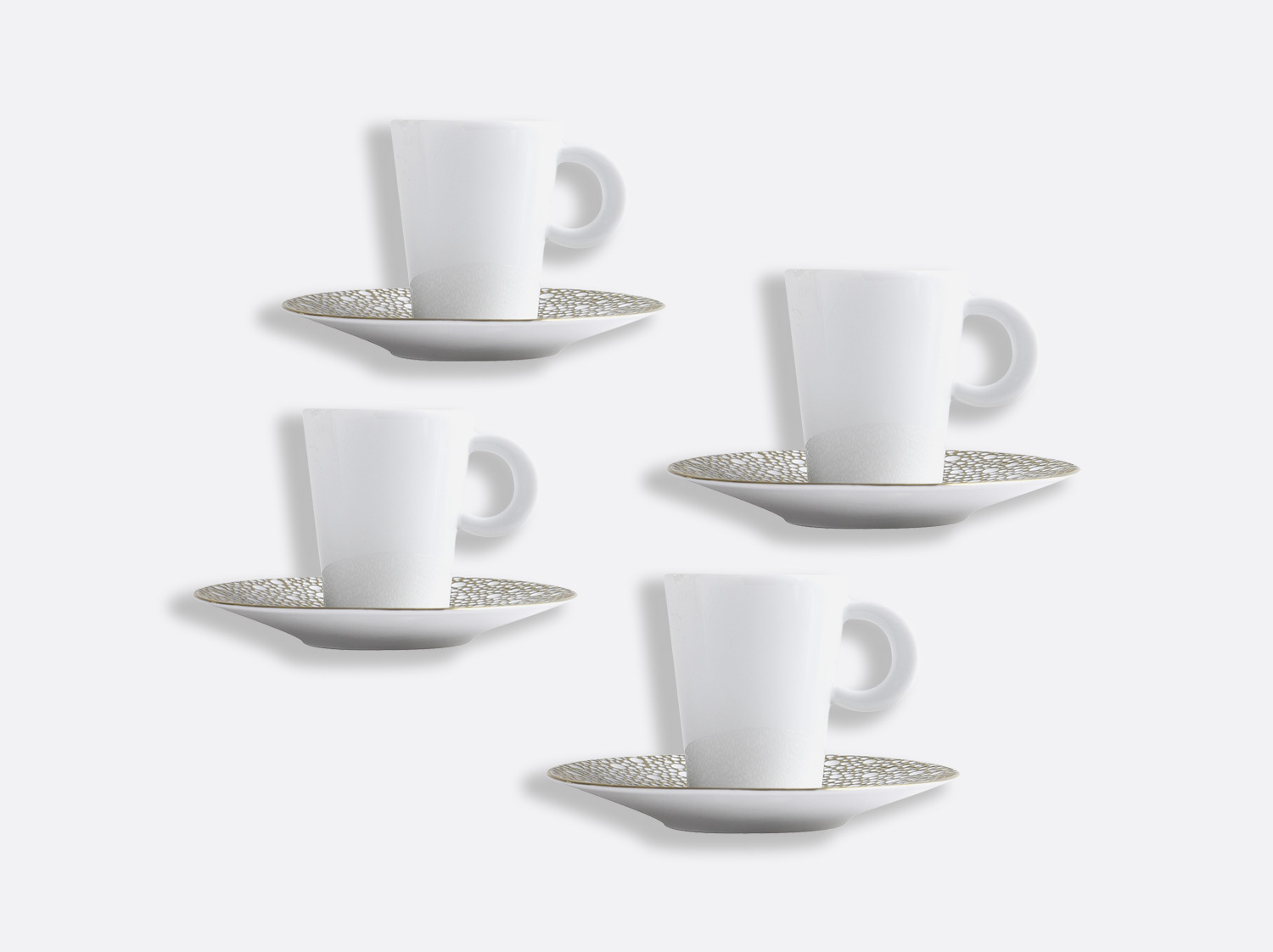 Coffret de tasses & soucoupes café 6 cl - Coffret de 4 en porcelaine de la collection Ecume Mordoré Bernardaud