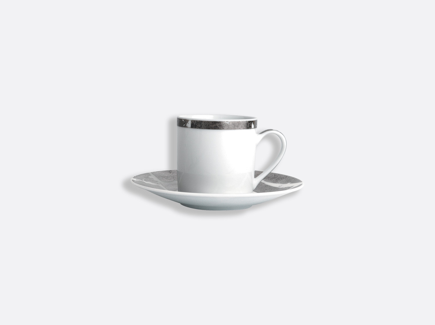 China Coffee cup and saucer gift box - 8 cl - Per unit of the collection Silver leaf | Bernardaud