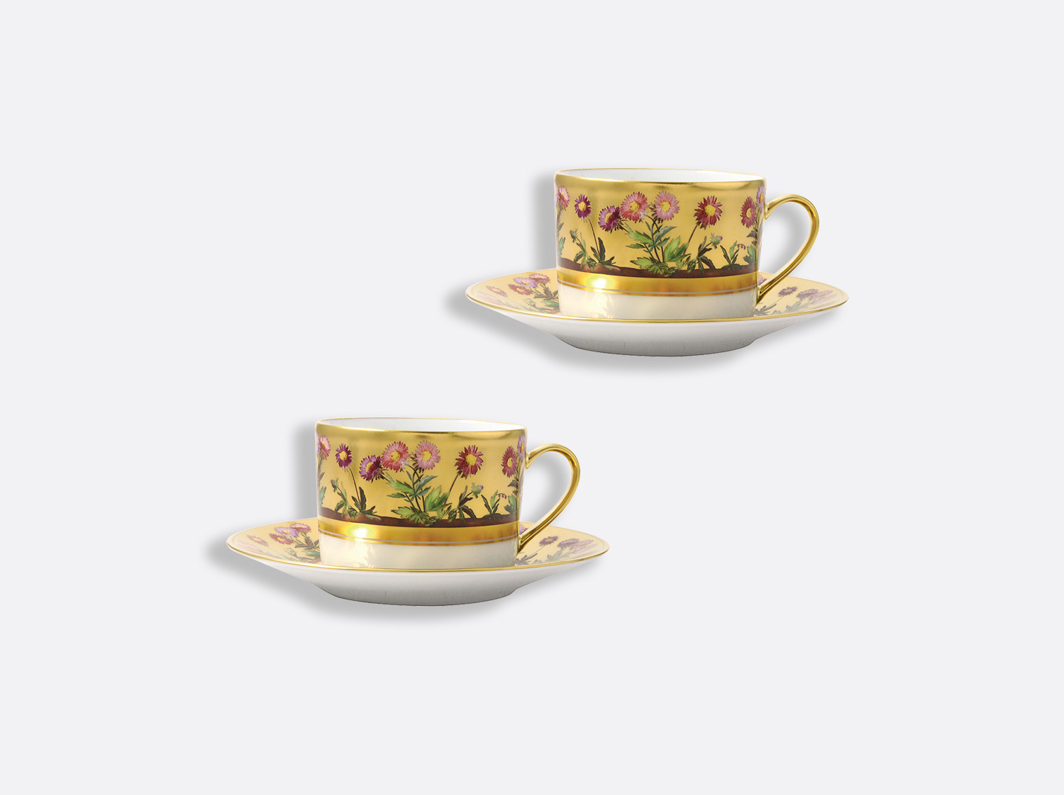 China Tea cup and saucer gift box - 15 cl - Set of 2 of the collection Heloise | Bernardaud