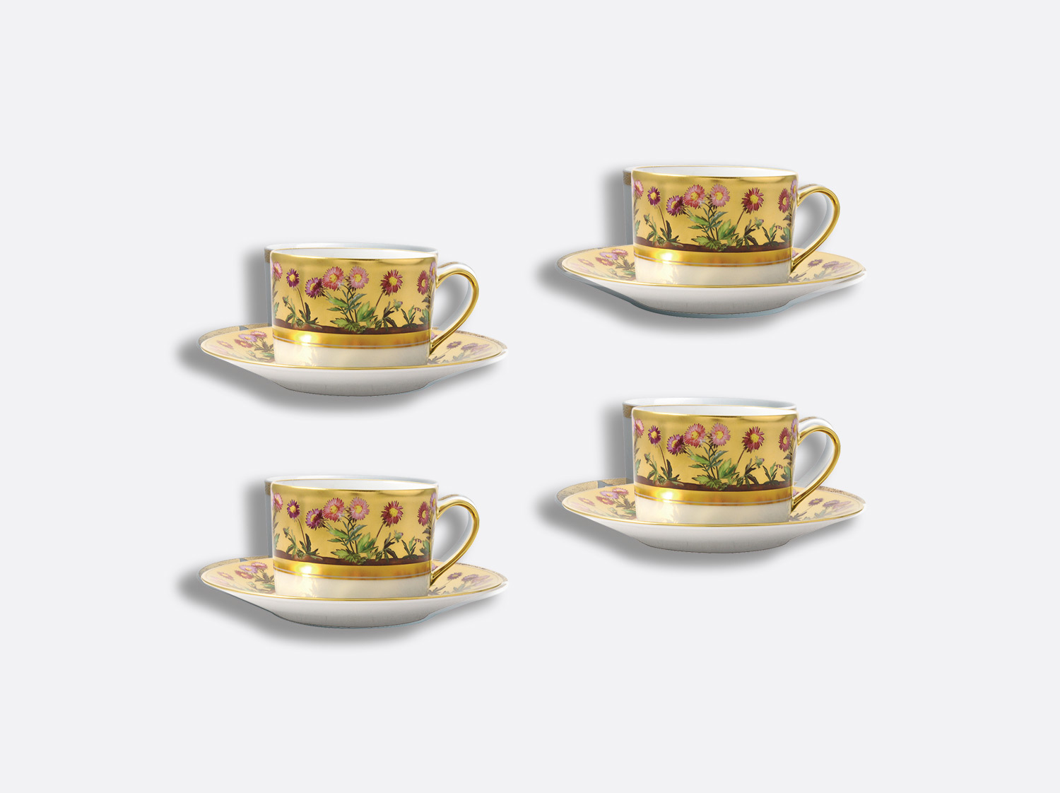 China Tea cup and saucer gift box - 15 cl - Set of 4 of the collection Heloise | Bernardaud