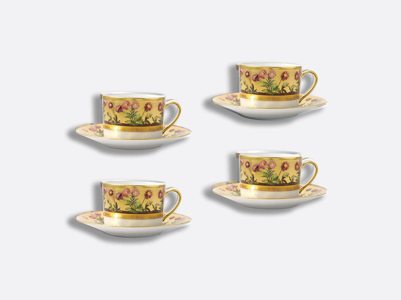 Coffret de tasses & soucoupes thé 15 cl - Coffret de 4 en porcelaine de la collection Heloise Bernardaud