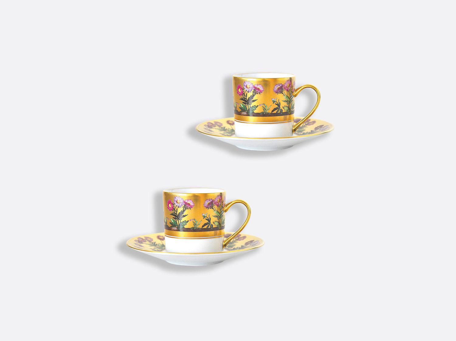 China Coffee cup and saucer gift box - 8 cl - Set of 2 of the collection Heloise | Bernardaud