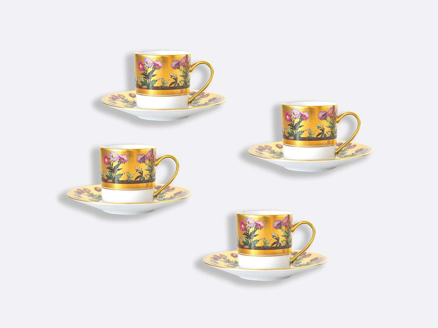 China Coffee cup and saucer gift box - 8 cl - Set of 4 of the collection Heloise | Bernardaud