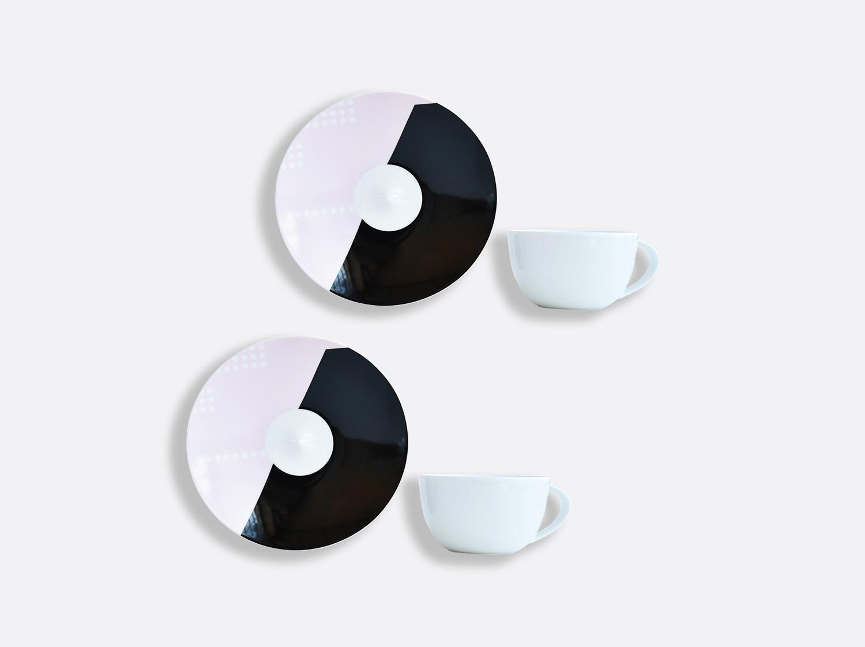 Coffret de tasses & soucoupes thé 20 cl - Coffret de 2 en porcelaine de la collection OSCAR Bernardaud