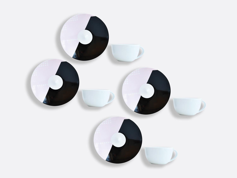 Coffret de tasses & soucoupes thé 20 cl - Coffret de 4 en porcelaine de la collection OSCAR Bernardaud