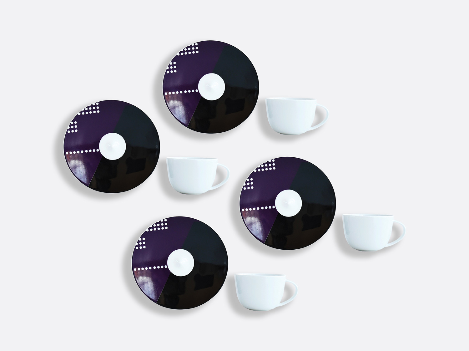 China Coffee cup and saucer gift box - 7 cl - Set of 4 of the collection OSCAR | Bernardaud