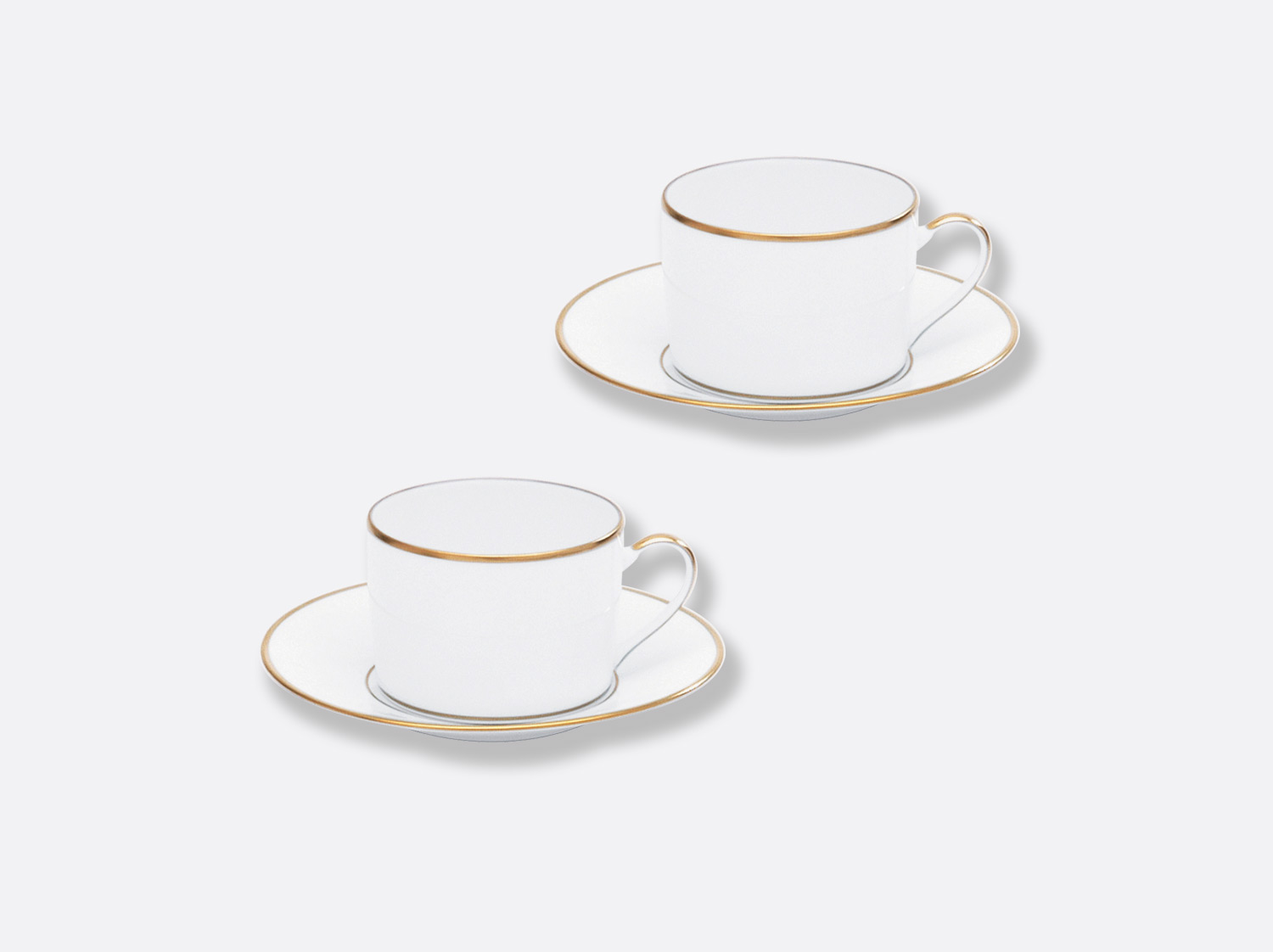 China Tea cup and saucer gift box - 15 cl - Set of 2 of the collection Palmyre | Bernardaud