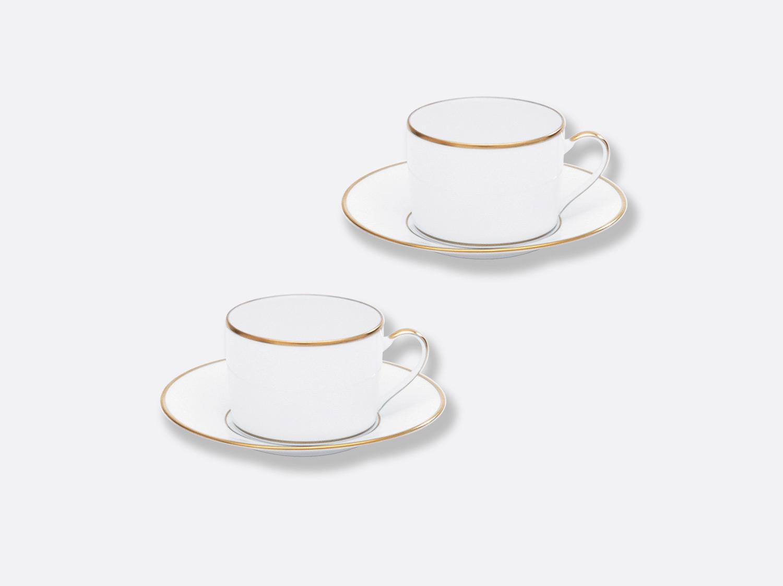 Coffret de tasses & soucoupes thé 15 cl - Coffret de 2 en porcelaine de la collection Palmyre Bernardaud