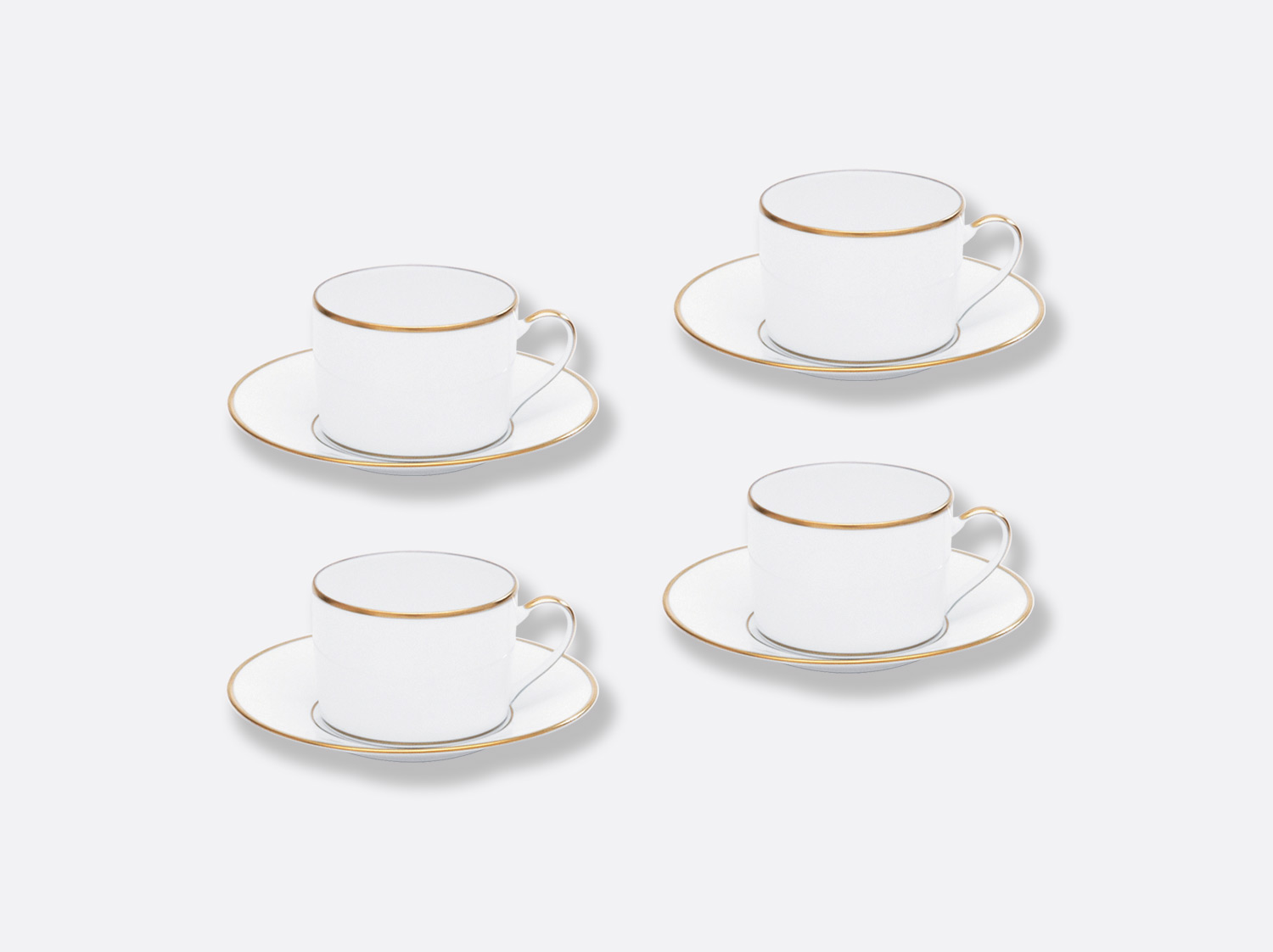 China Tea cup and saucer gift box - 15 cl - Set of 4 of the collection Palmyre | Bernardaud
