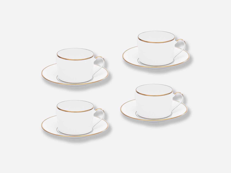 Coffret de tasses & soucoupes thé 15 cl - Coffret de 4 en porcelaine de la collection Palmyre Bernardaud