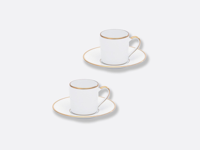 Coffret de tasses & soucoupes café 8 cl - Coffret de 2 en porcelaine de la collection Palmyre Bernardaud