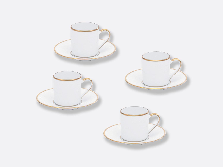 Coffret de tasses & soucoupes café 8 cl - Coffret de 4 en porcelaine de la collection Palmyre Bernardaud