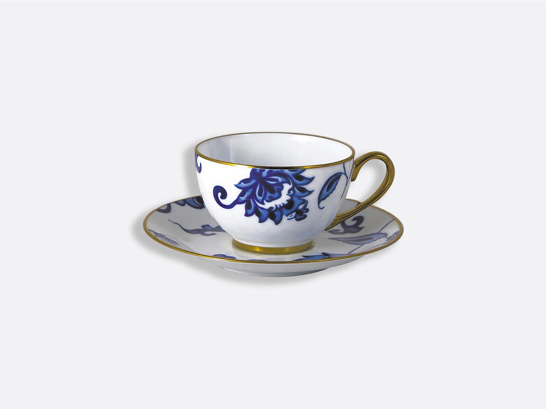 Coffret de tasses & soucoupes thé 13 cl - A l'unité en porcelaine de la collection Prince bleu Bernardaud