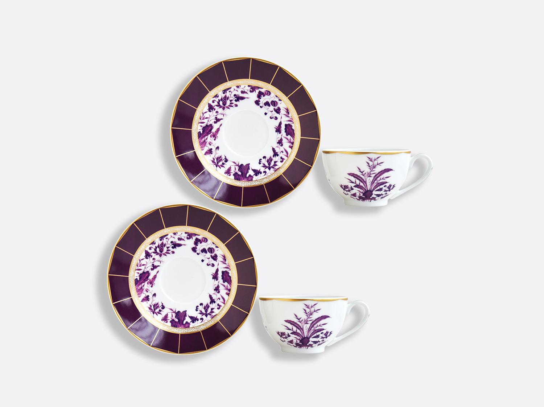 Coffret de tasses & soucoupes thé 13 cl - Coffret de 2 en porcelaine de la collection PRUNUS Bernardaud