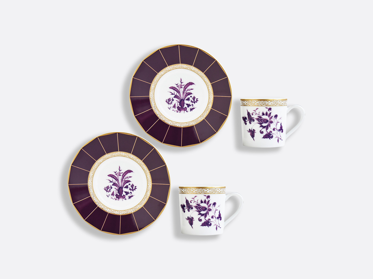 China Espresso cup and saucer gift box - 2.8 Oz - Set of 2 of the collection PRUNUS | Bernardaud